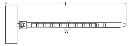 Кабельная стяжка с площадкой для маркировки чертеж