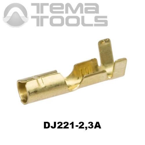 Коннектор круглый разрезной DJ221-2,3А мама