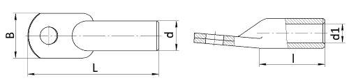 Наконечник кабельный алюминиевый ГОСТ 9581-80 чертеж