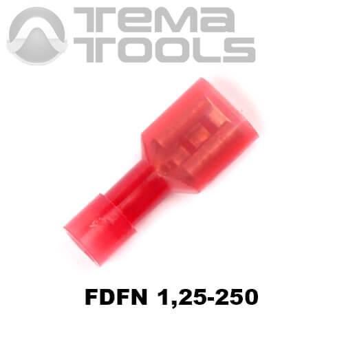 Разъем плоский FDFN 1,25-250 мама