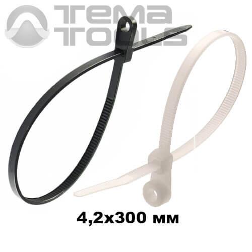 Стяжка кабельная с кольцом 4,2х300 мм