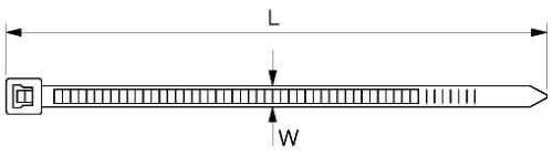 Чертеж кабельной стяжки нейлоновой
