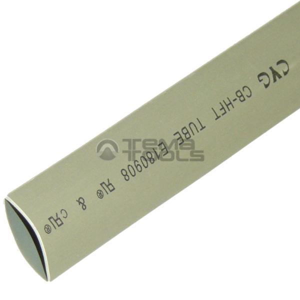 Термоусадочная трубка 2:1 10 мм серая