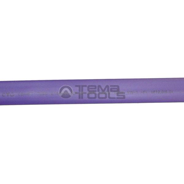 Термоусадочная трубка 2:1 12 мм фиолетовая (текст)