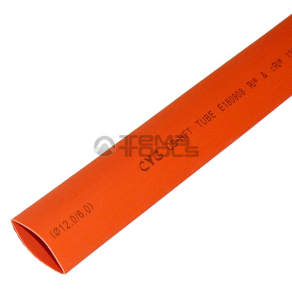Термоусадочная трубка 2:1 12 мм оранжевая
