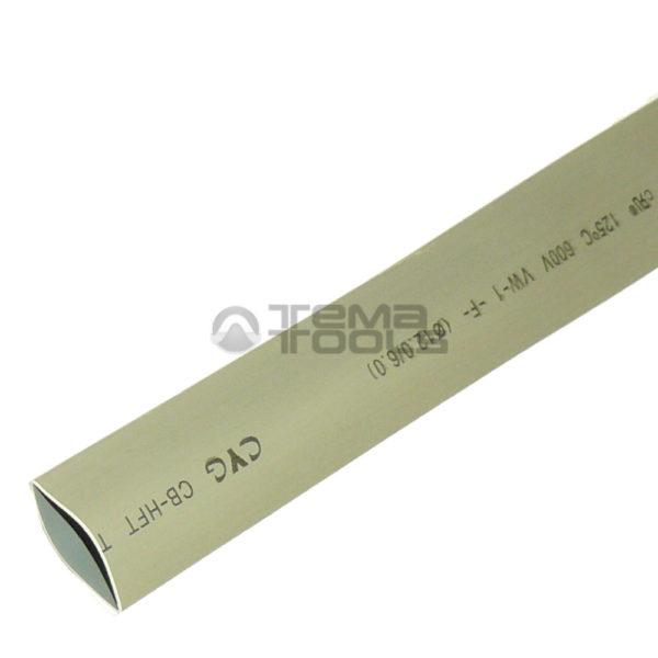 Термоусадочная трубка 2:1 12 мм серая