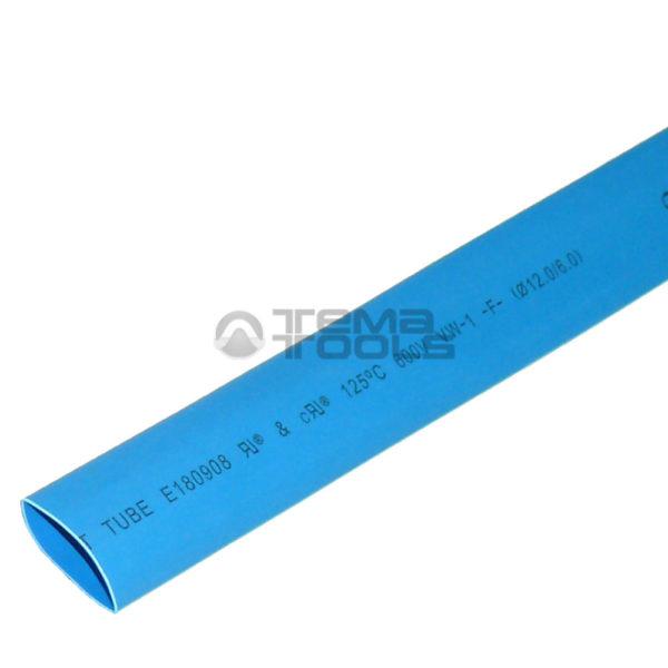 Термоусадочная трубка 2:1 12 мм синяя