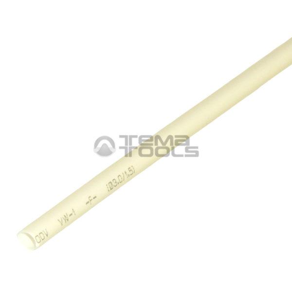 Термоусадочная трубка 2:1 3 мм белая
