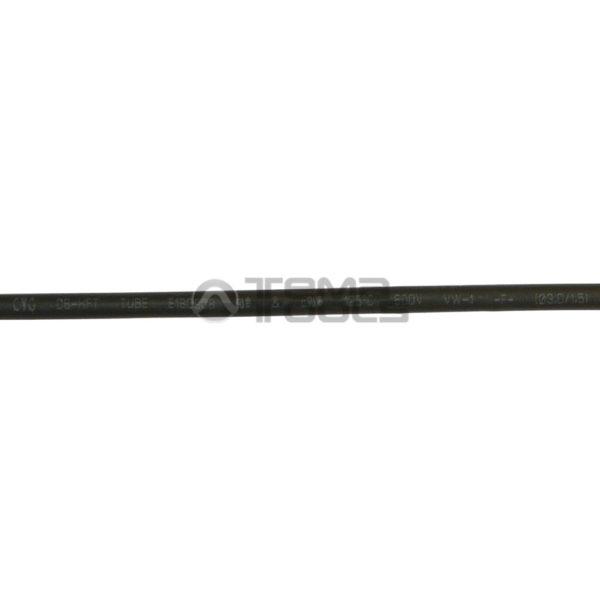 Термоусадочная трубка 2:1 3 мм черная (надпись)
