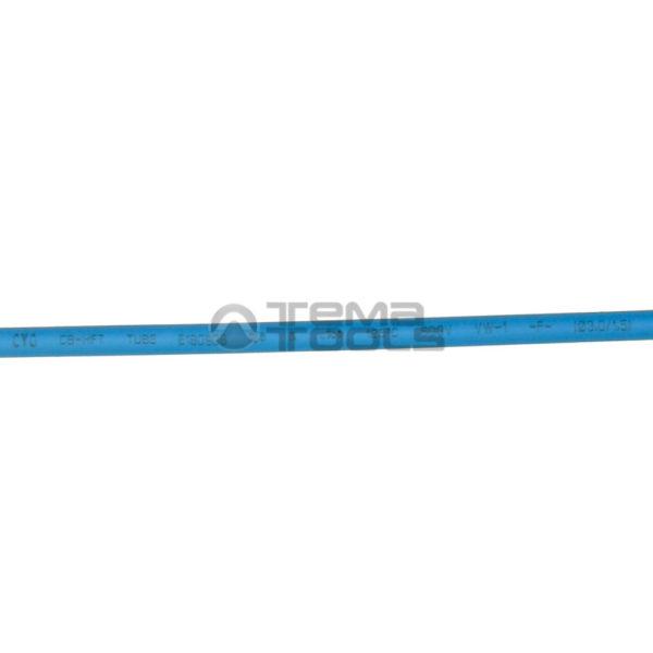 Термоусадочная трубка 2:1 3 мм синяя (надпись)