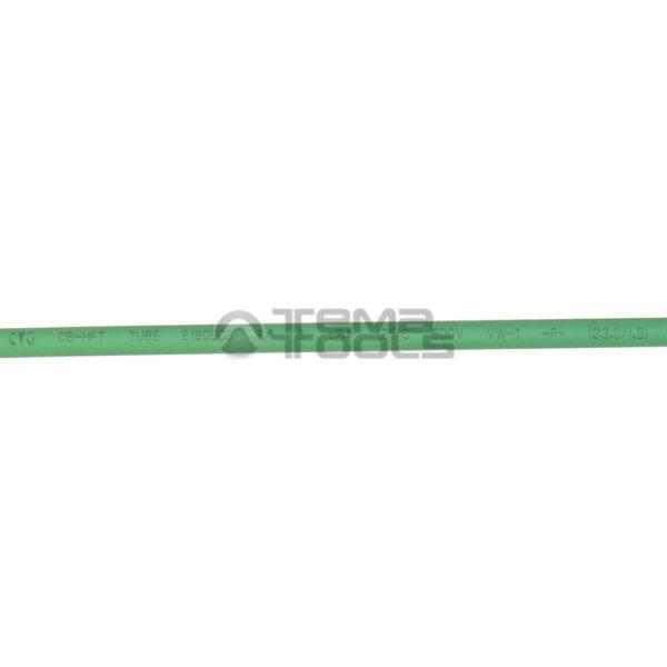 Термоусадочная трубка 2:1 3 мм зеленая (надпись)