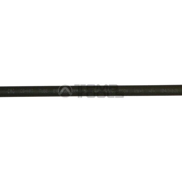 Термоусадочная трубка 2:1 4 мм черная (текст)