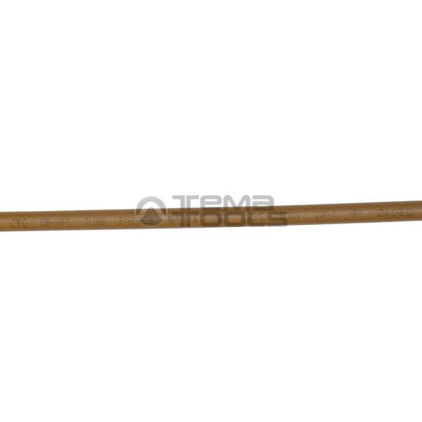 Термоусадочная трубка 2:1 4 мм коричневая (текст)