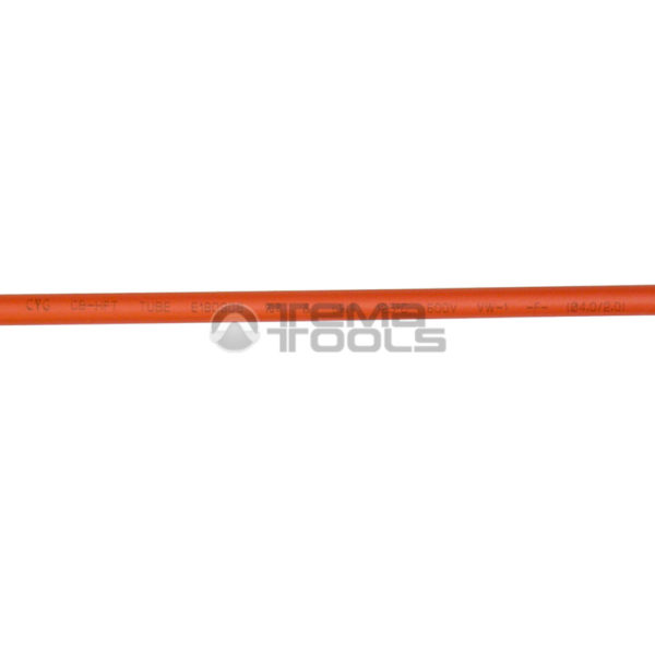 Термоусадочная трубка 2:1 4 мм оранжевая (текст)