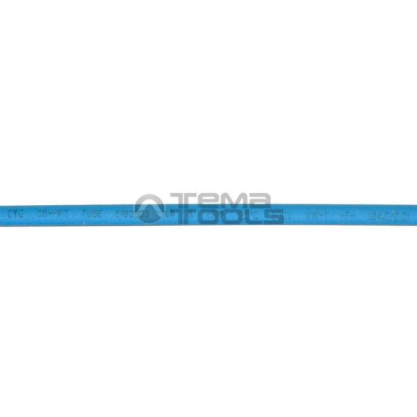Термоусадочная трубка 2:1 4 мм синяя (текст)