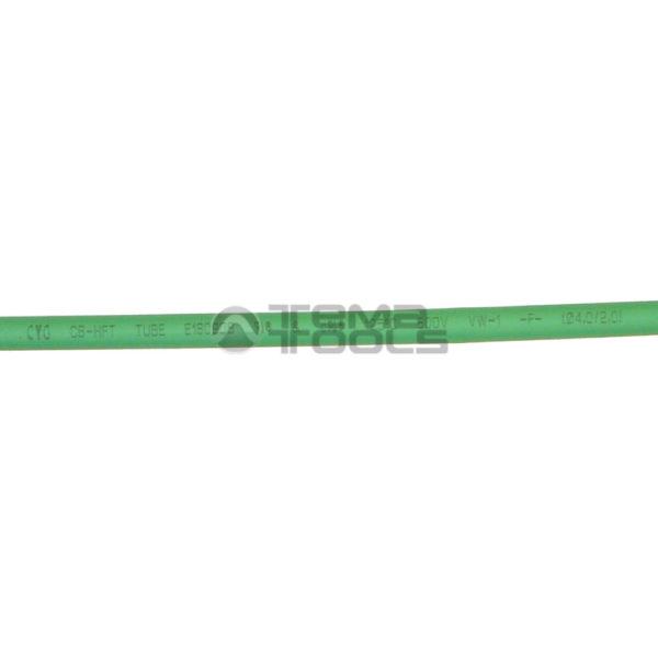 Термоусадочная трубка 2:1 4 мм зеленая (текст)