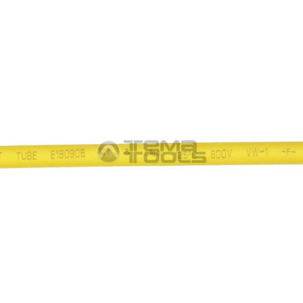 Термоусадочная трубка 2:1 4 мм желтая (текст)