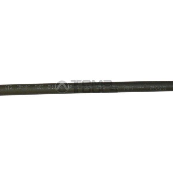 Термоусадочная трубка 2:1 5 мм черная (текст)