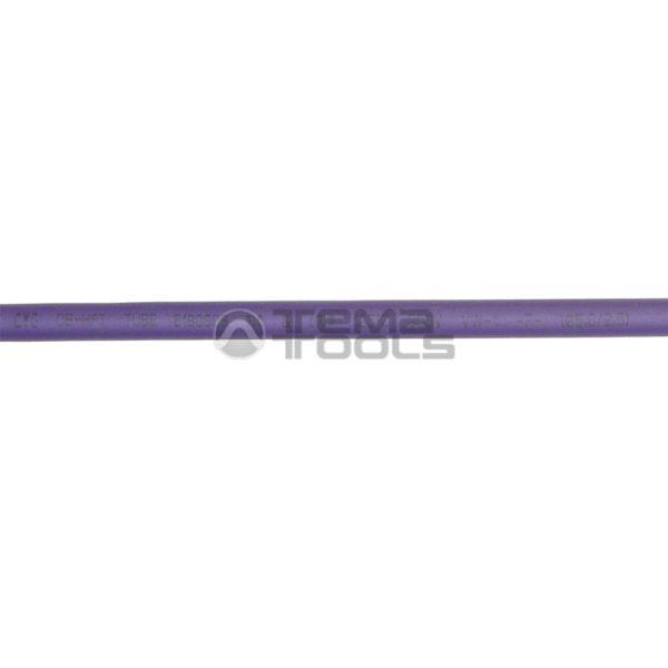 Термоусадочная трубка 2:1 5 мм фиолетовая (текст)