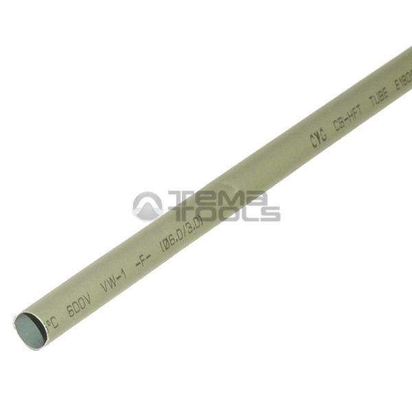 Термоусадочная трубка 2:1 6 мм серая