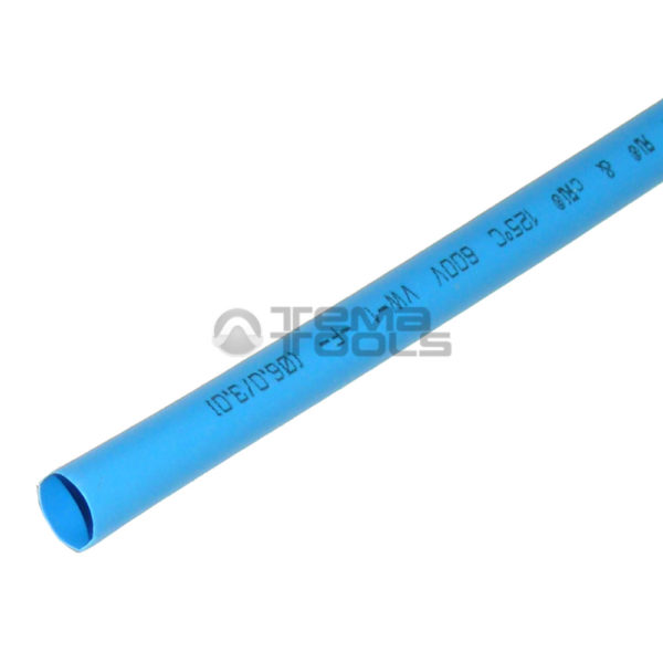 Термоусадочная трубка 2:1 6 мм синяя