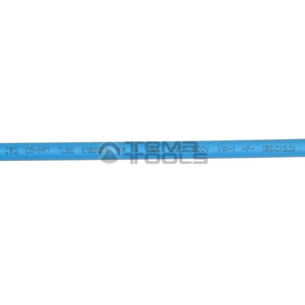 Термоусадочная трубка 2:1 6 мм синяя (текст)