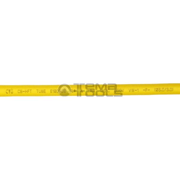 Термоусадочная трубка 2:1 6 мм желтая (текст)