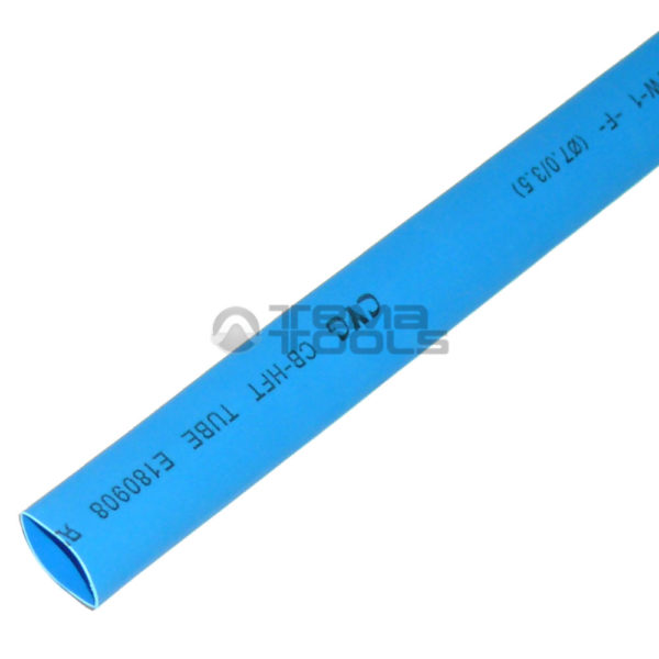 Термоусадочная трубка 2:1 7 мм синяя
