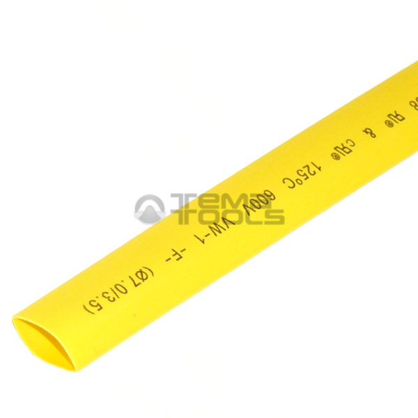 Термоусадочная трубка 2:1 7 мм желтая
