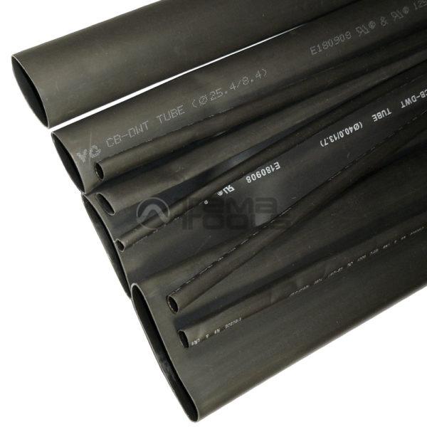 Термоусадочная трубка с клеем 3:1 черная