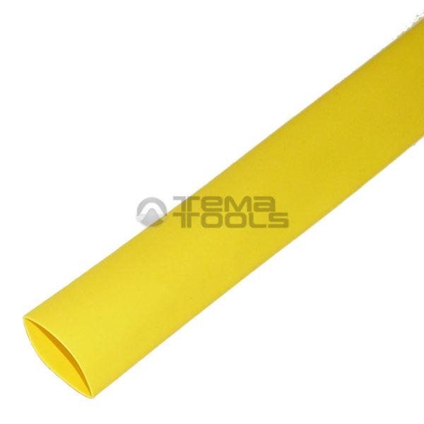 Термоусадочная трубка 2:1 25 мм желтая