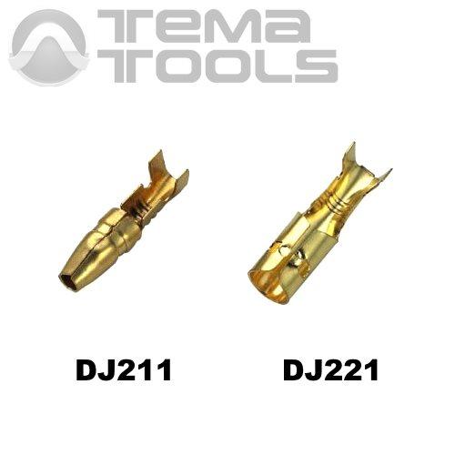 Коннекторы круглые разрезные без изоляции DJ211 и DJ221