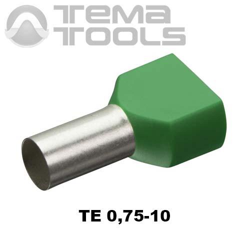 Наконечник втулочный двойной изолированный TE 0,75-10