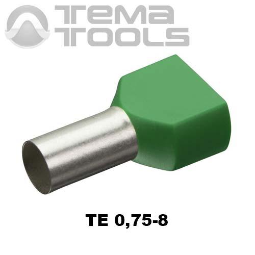 Наконечник втулочный двойной изолированный TE 0,75-8