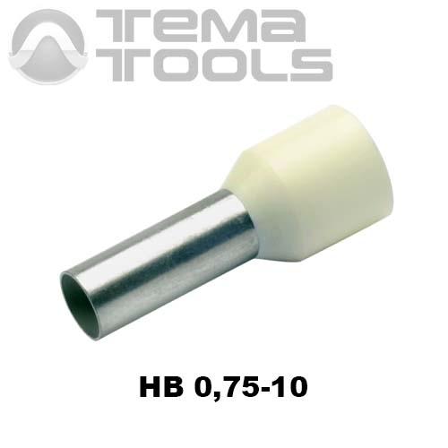 Наконечник втулочный изолированный HB 0,75-10