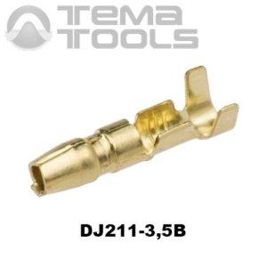Коннектор круглый разрезной DJ211-3,5B папа