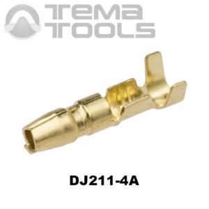 Коннектор круглый разрезной DJ211-4A папа