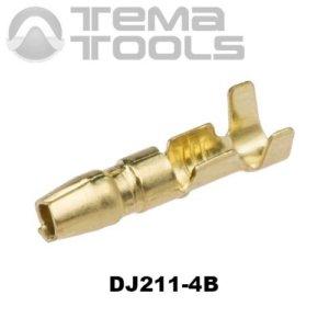 Коннектор круглый разрезной DJ211-4B папа