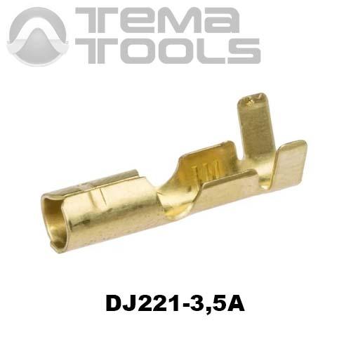 Коннектор круглый разрезной DJ221-3,5A мама