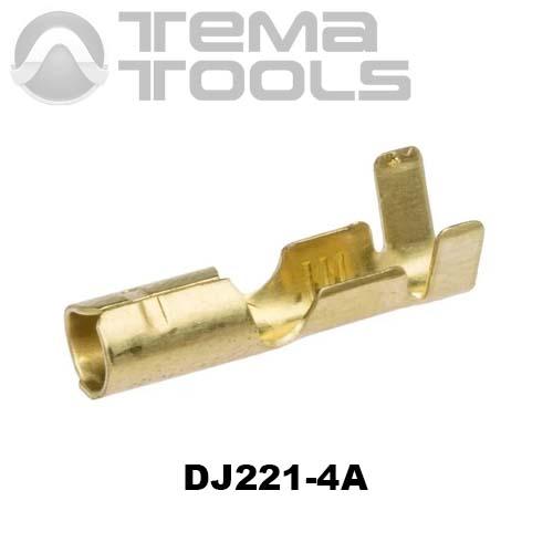 Коннектор круглый разрезной DJ221-4A мама