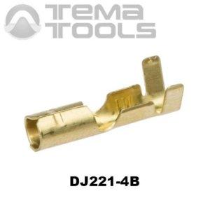 Коннектор круглый разрезной DJ221-4B мама