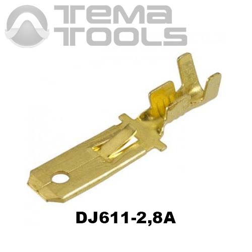 Коннектор плоский разрезной DJ611-2,8A папа