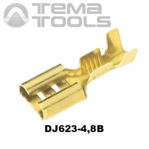 Коннектор плоский разрезной DJ623-4,8B мама