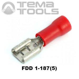 Плоский коннектор FDD 1-187(5) мама