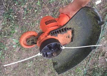 Кабельная стяжка вместо ножа для триммера