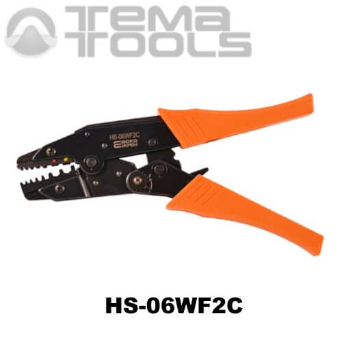 Универсальный инструмент для опрессовки наконечников HS-06WF2C – ручные механические пресс-клещи