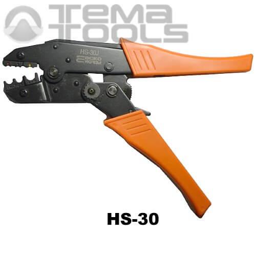 Инструмент опрессовочный HS-30 (0.5-6 мм²) ручной для разрезных наконечников