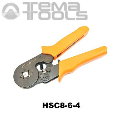 Кримпер пресс-клещи HSC8-6-4 (0,5-6 мм²) для обжима втулочных (трубчатых) наконечников