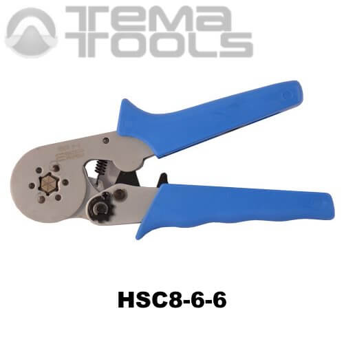 Кримпер пресс-клещи HSC8-6-6 (0,5-6 мм²) для обжима втулочных (трубчатых) наконечников