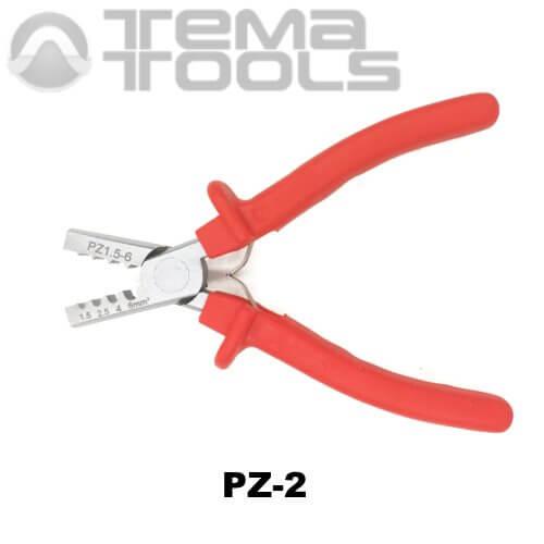 Инструмент опрессовочный PZ-2 (1.5-6 мм²) ручной для втулочных (трубчатых) наконечников